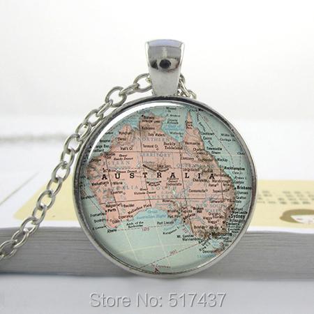 1pc free shipping O34 Australia map pendant, Australia map necklace, Australia jewelry, Australia jewellery, map charm(China (Mainland))
