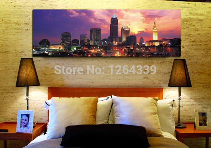 Free shopping Wall Art Cheap Of New York City Building Digital Painting Canvas As Home Decorative Picture City light(China (Mainland))