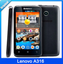 Original Lenovo A316 4.0″ Inch MTK6572 Dual Core 1.3GHz Android Bluetooth GPS WiFi 3G Dual Core Smartphone Cheap Mobile Phones