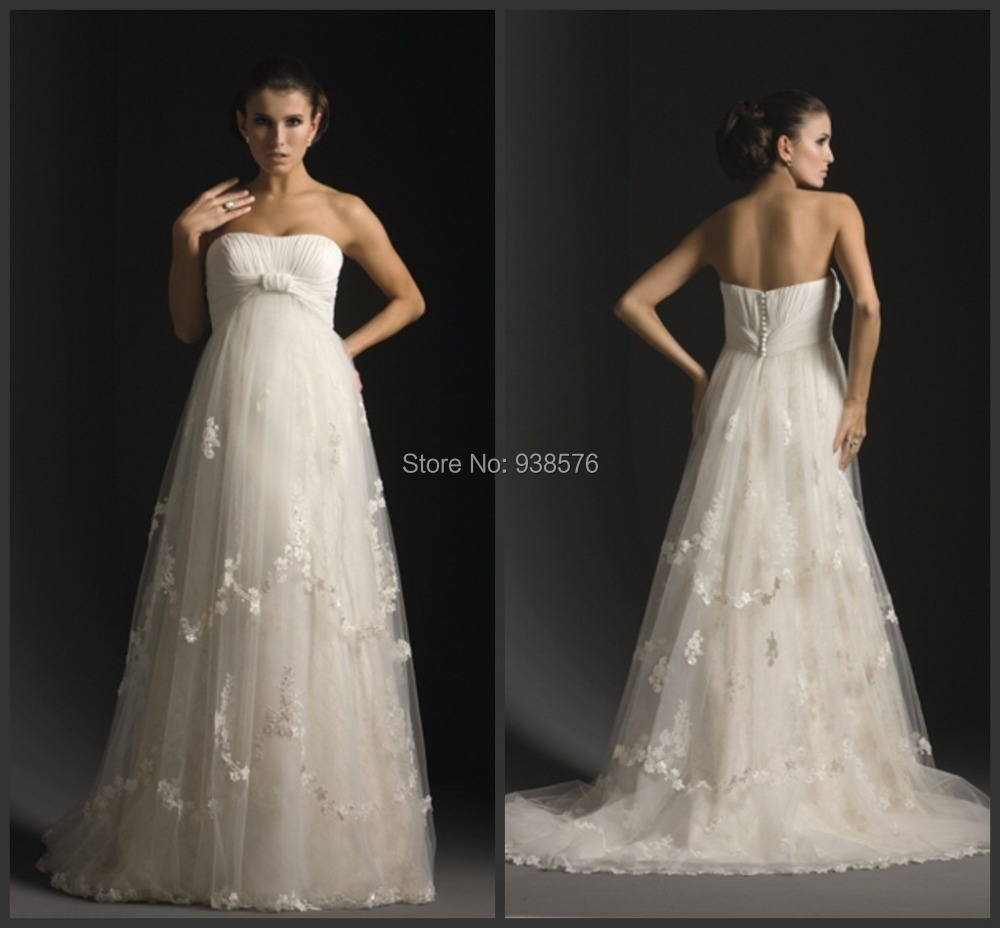 Vintage plus size maternity wedding dresses 2015 new for Plus size maternity wedding dresses