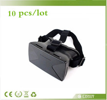 10 pcs/lot  3d google cardboard glasses for smartphone