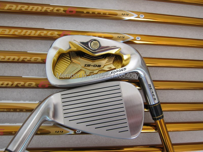 New golf irons 5star Honma Beres IS-02 irons set 4---11 Aw Sw with Regular or Stiff Graphite shaft golf clubs(China (Mainland))