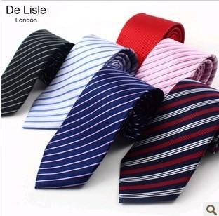 8.5cm yarn dyed silk tie male commercial married formal tie stripe series 17