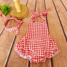 Ruffled Flower Baby Rompers Girl Baby Costumes Set Kids Jumpsuit Cotton Chevron Romper Photo Props with bow headband 21 Color(China (Mainland))
