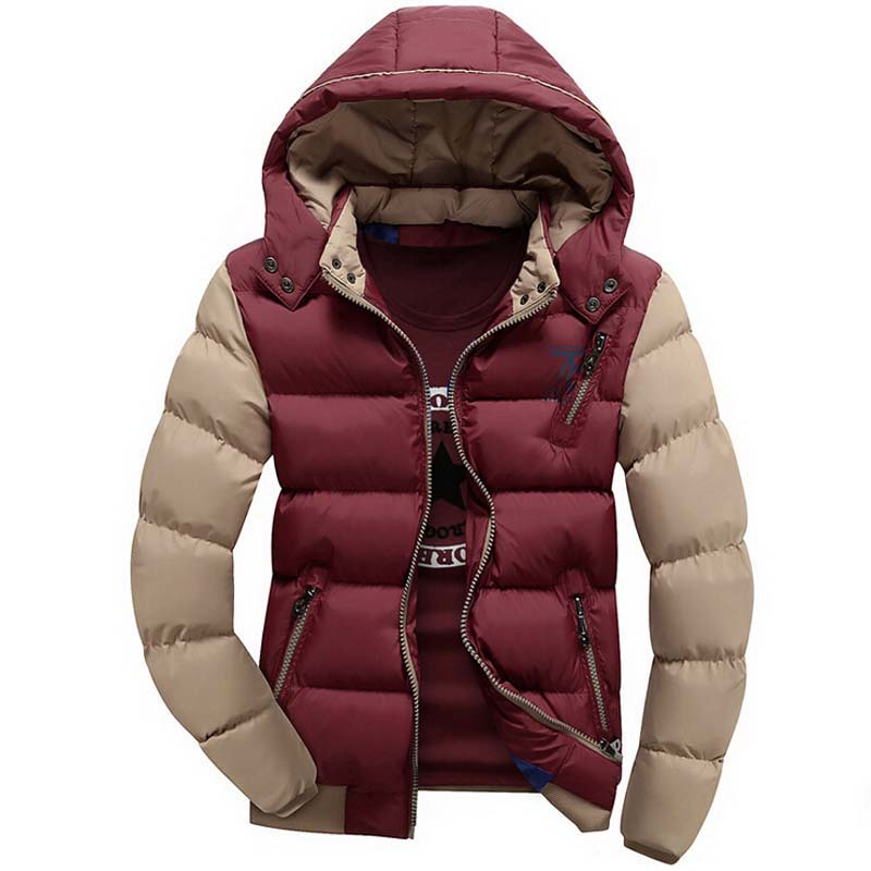 New Arrival Men Jacket Warm cotton coat mens casual hooded jackets Handsome outdoor thicking Parka Plus size XXXL Coats