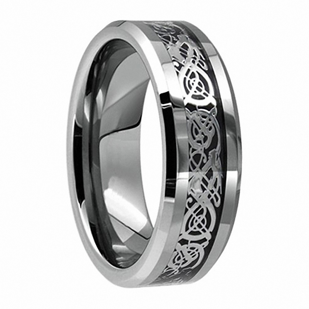 vintage jewelry 8mm tungsten carbide dragon ring for men wedding band aneis masculinos the. Black Bedroom Furniture Sets. Home Design Ideas