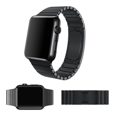 URVOI link bracelet for apple watch band  1:1 original butterfly clasp with stainless steel strap space black&silver 38mm/42mm