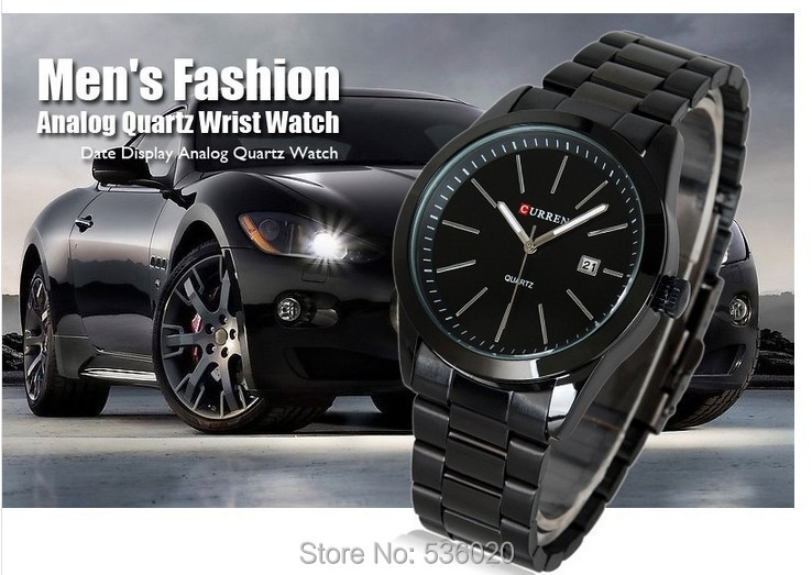 Original Curren top brand men military sports watches quartz fashion full steel band watch date display relogio male - ShenZhen OKE Trade Co.,LTD store