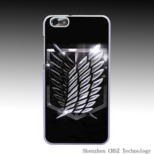 43O Attack On Titan Scouting Legion Hard Clear Case Transparent Cover for Huawei P6 P7 P8 Lite Honor 6 7 G7 4C 4X