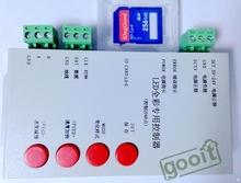 New T-1000S carte SD Led Pixel Controller Led de contrôle contrôleur de Pixel soutien DMX512 ws2811 RGB contrôleur(China (Mainland))