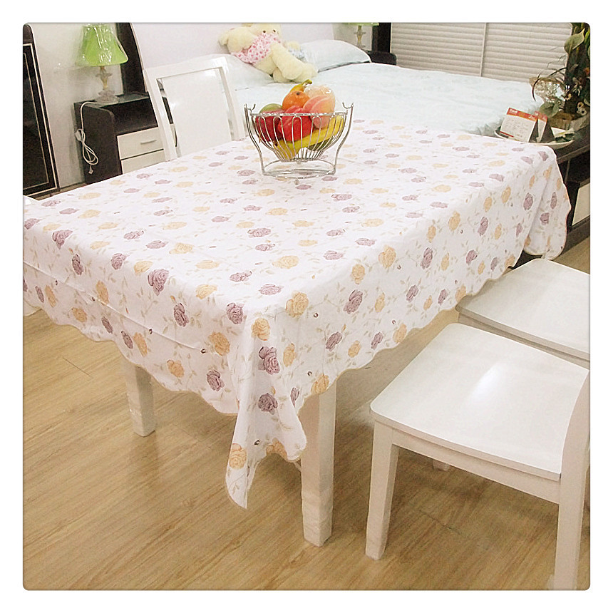 Embroidery Table Cloth Restaurant Table Linen Fiber Optic Fabric Home Textile Tischdecke Transparent Crystal PVC Tablecloth(China (Mainland))
