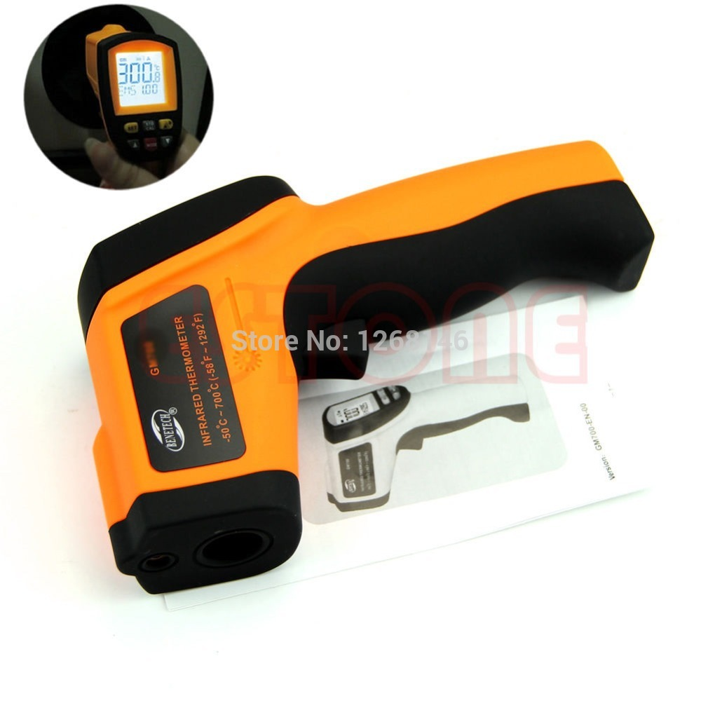 Free Shipping New GM900 Non-Contact LCD IR Laser Digital Infrared Thermometer Temperature Gun(China (Mainland))