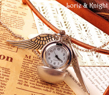 Angel Wings Steampunk Pocket Watch Vintage Jewelry Chain Necklace