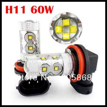 Free Shipping CREE 60W SMD LED Car Fog light H4 H7 1156 1157 9005 9006  H11 Car Turn Signal Reverse Tail Light Bullb