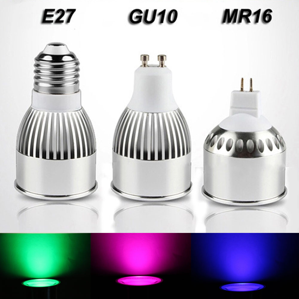 AC 110V 220V DC12V 2.4G Wireless RF Wifi Control E27 GU10 MR16 4W RGBW RGB+white+warm white LED Bulb Dimmable spot light lamp(China (Mainland))