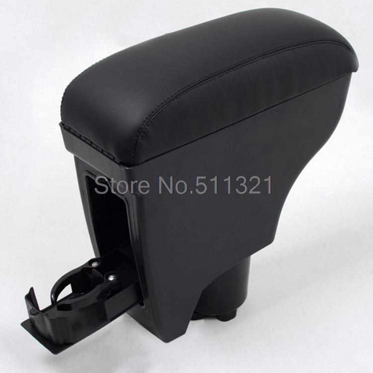 Black Leather Console Armrest Fit For Toyota Vitz Yaris Belta 2005-2011 Car Interior Accessories(China (Mainland))