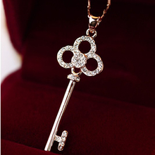 X188 David jewelry wholesale hot sale crystal  key chain female women necklace  rhinestone necklace pendants for necklaces(China (Mainland))