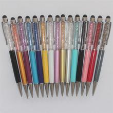 15 шт./лот универсальный удивительные высокое качество 2 в 1 шариковая ручка / стилус SWAROVSKI кристаллических элементов
