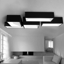 Modern Sitting Room Led Ceiling Lights Act Role Ofing Contracted  Hotel Hall Creative Rectangle Absorb Dome Lamp Free shipping(China (Mainland))