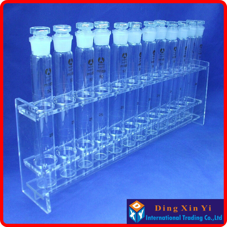 Lab 50mlx12 Colorimetric Organic Glass Nessler Tube Rack+12 pieces 50ml Glass colorimetric tube<br><br>Aliexpress