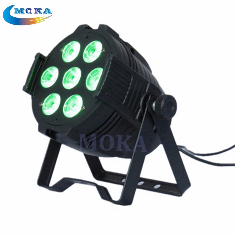 10Pcs/Lot 7*10W LED PAR 6 Channel RGB LED Flat Par Light for Club Bar DJ Stage Party DMX Control <br><br>Aliexpress
