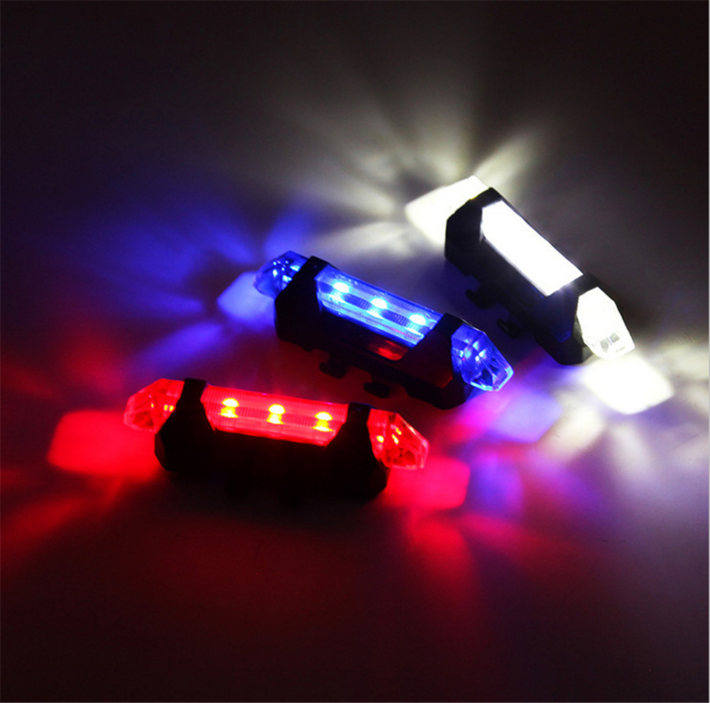 2016 New 4 Modes High Brightness LED USB Rechargeable Mountain Road Bicycle Rear Tail Light Back Lamp bike light accessories(China (Mainland))
