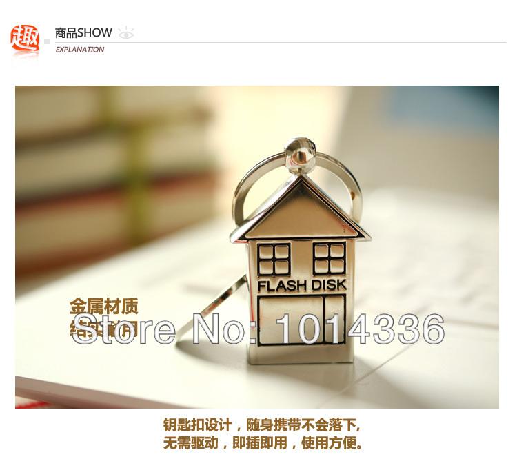 5pcs/lot Metal Lovely minnie mouse Small house USB Flash Drive USB 2.0 8G 16G 32Gk Pen Flash Drive Memory Stick S100(China (Mainland))