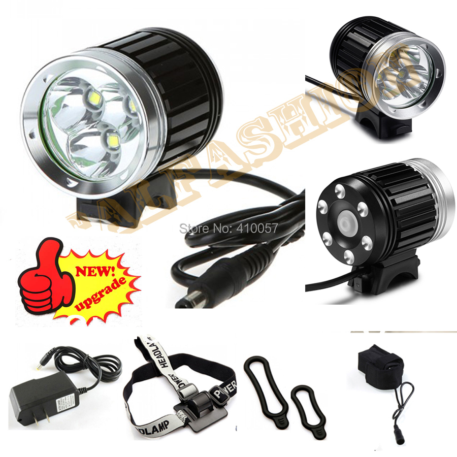 3600 lumen,3*CREE T6 LED Bicycle Bike Light Headlamp Headlight kit 4 Modes,rechargable 4*18650 Battery Pack ,free shipping(China (Mainland))