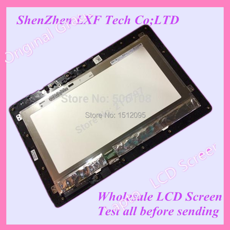 Tablet Touch LCD Screen Assembly + Frame Black Digitizer 10.1 For Asus Transformer Book T100 T100TA <br><br>Aliexpress