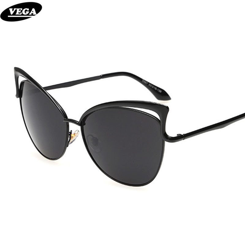 VEGA Latest Ladies Cateye Sunglasses Novelty Cat Eye Sun Glasses For Women HD Vision Trendy Hipster Glasses 967(China (Mainland))