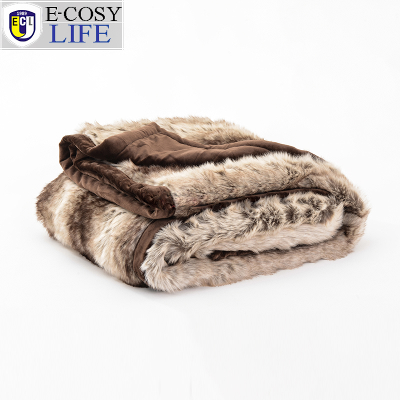 2016 New Winter Artificial Faux  Fur Throw Tiger Blanket for Sofa TV Sleep E-COSY LIFE Fur Wool Car Blanket For Big Fluffy throw