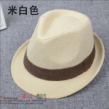 Fashion all match male fedoras jazz hat female vintage fashion linen straw hat lovers beach hat