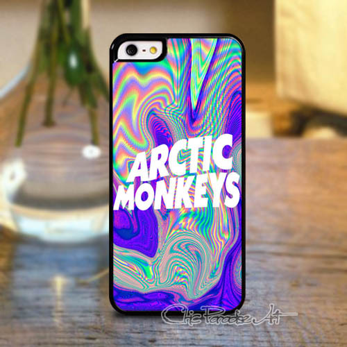 Psychedelic Arctic Monkeys Logo Durable Hard Cell Phone Case for iPhone 4 4s 5 5s 5c(China (Mainland))