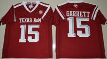 College Texas Aggies Jerseys Mens 2 Johnny Manziel Jersey 9 Ricky Seals-Jones 40 Von Miller 15 Myles Garrett Black Red Whit(China (Mainland))