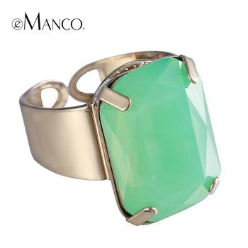 Модный геометрическая кристалл sappire кольца для женщин 2015 классический горный ...