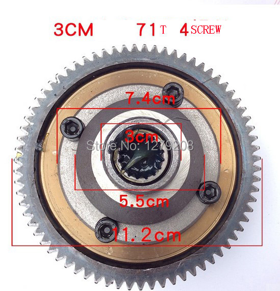 free shipping  71T  30mm  4hole  electric tricycle  differential gear motor  sprocket<br><br>Aliexpress