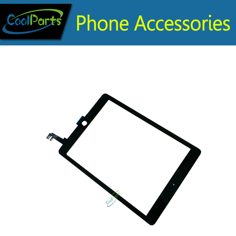 1PC/Lot Black White Color  For ipad 6 For iPad Air 2 Touch Screen Digitizer Touch Glass Replacement Part Free Shipping