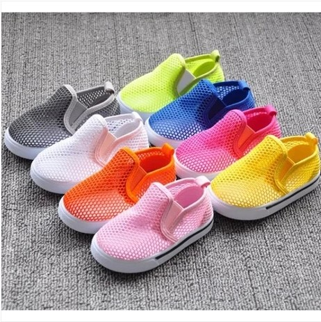 2015 children cutout mesh breathable half sandals candy color hole shoes toddler shoes sandals for girls boys kids sneakers(China (Mainland))