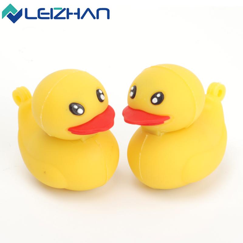 LEIZHAN USB Flash Dirve Cute Mini Yellow Duck Shape USB Stick 4GB 8GB 16GB 32GB 64GB Pen Drive USB 2.0 Memory Stick U Disk(China (Mainland))