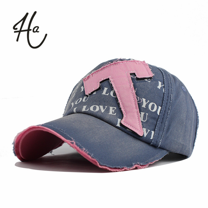 2016 Cotton Embroidery Letter T Baseball Cap Snapback Caps Outdoors Golf Sports Hat Fitted Casquette Hat For Women Custom Hats(China (Mainland))