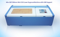 40W 300x200mm Desktop co2 mini laser Engraver CNC Cutting Machine for MDF, wood, Leather, Acrylic etc. with USB Support
