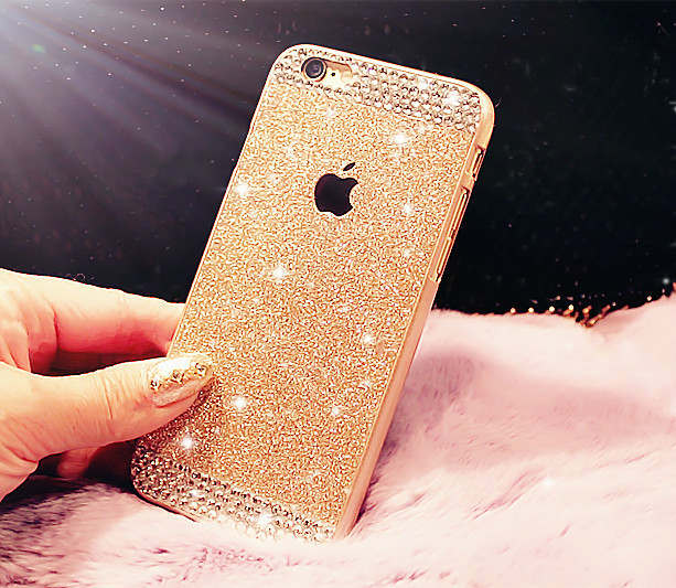 Newest case! Glitter powder Rhinestone bling phone case for iphone 5 5s Fashion diamond crystal back cover Sparkle back cover(China (Mainland))