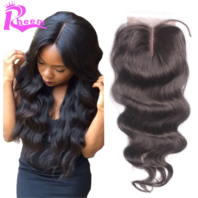 7A Virgin Hair Lace Closure 3.5x4 Brazilian Body Wave Closure,Human Hair Closure With Bleached Knots Free Middle 3 Part Closures(China (Mainland))