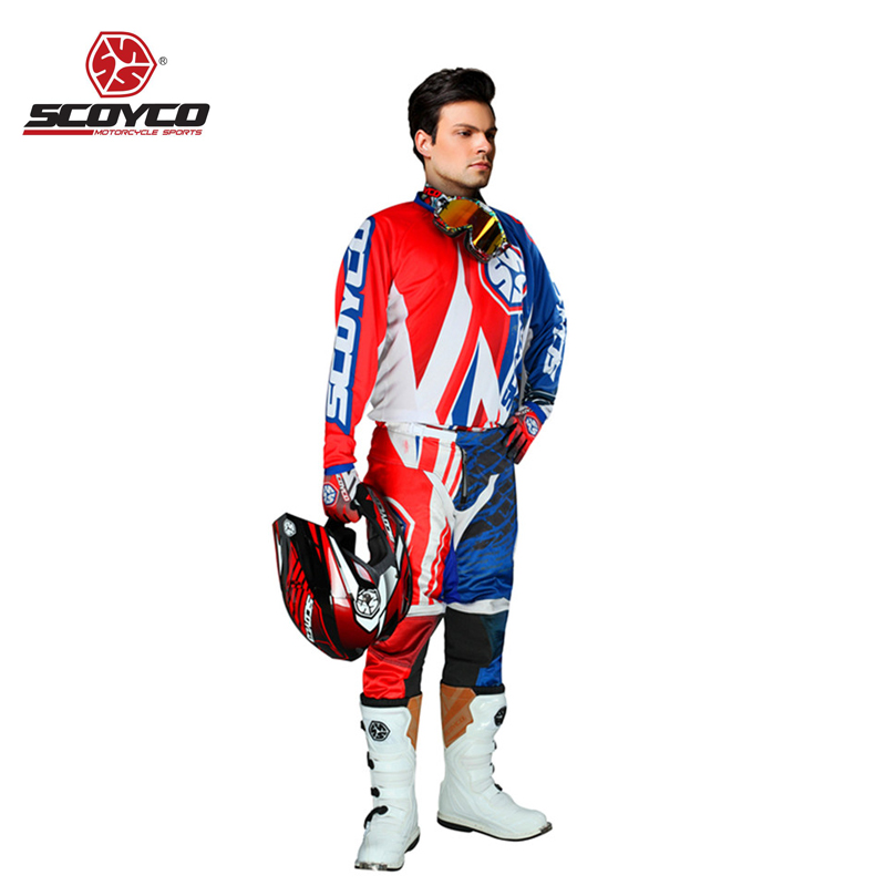 Motorcycle Clothes Suit Jersey Pants Gloves Set Hip Pads Offroad Sports Cycling Racing Professional Motocross Dirt Bike Riding