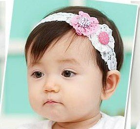 Freeshipping!! NEW button design elastic baby headbands / Chidren Lace hairband / Hair Accessories / retail<br><br>Aliexpress