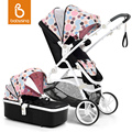 Babysing Baby Stroller Portable High View Travel System 2 in 1 Anti shock Baby Pram with