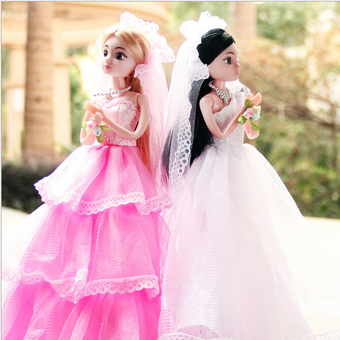 2015 series of children's toys Jiao children wedding princess sweet and girl toy doll birthday gift kit free shipping(China (Mainland))
