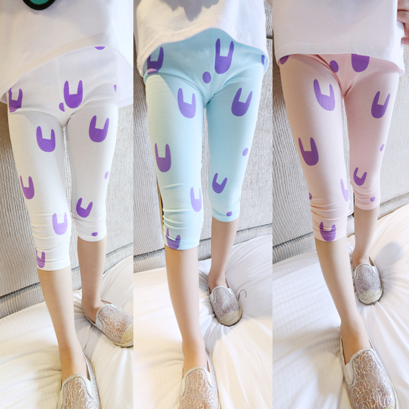 Q2 children's female child clothing summer kitten legging baby - 1990 store