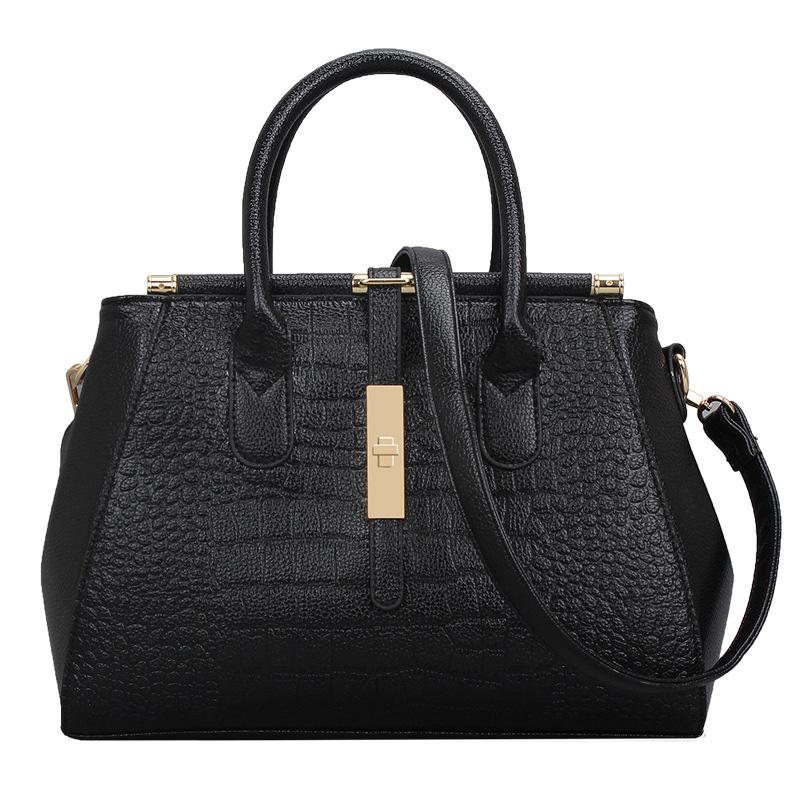Hot Sale women handbag messenger bags ladies new shoulder bag pu leather handbags Crocodile pattern tote bags free shipping(China (Mainland))