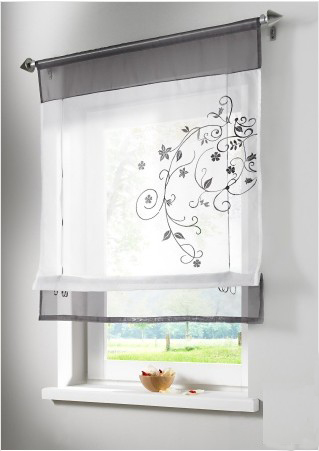 New European style embroidery roman curtain roller curtains for window balcony and kitchen curtains(China (Mainland))